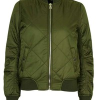 Quilted MA1 Bomber Jacket