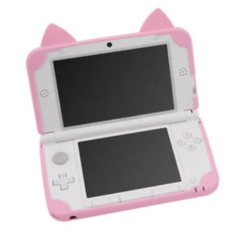For 3DS LL Cat Neko Nyan Soft Silicon Case Cover Pink free shipping