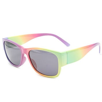 Abstract Color Icecream Mango Pastel Sunglasses Unisex Wayfarer Style Unique Glasses G-013