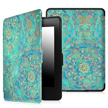 Fintie Case for Kindle Paperwhite - The Thinnest and Lightest PU Leather Cover Auto Sleep/Wake for All-New Amazon Kindle Paperwhite (Fits All 2012, 2013, 2015 and 2016 Versions), Shades of Blue