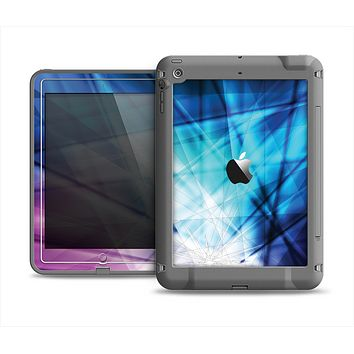The Vibrant Blue and Pink HD Shards Apple iPad Air LifeProof Fre Case Skin Set