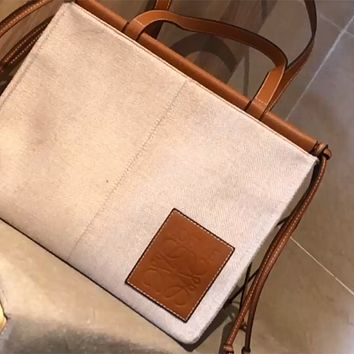LOEWE 2020 New Canvas Women's Shopping Bag Shoulder Bag Crossbody Bag