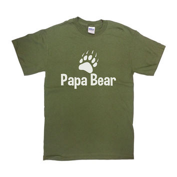 Funny Dad Shirt Papa Bear T Shirt Father TShirt Daddy TShirt Dad Gift Ideas For Him Fathers Day Gift Fathers Day T Shirt Mens Tee - SA69