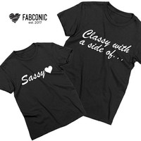 Classy with a side of sassy, Mother daughter shirts, Mother and daughter t-shirts, Matching mother daughter shirts