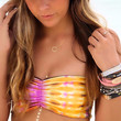 Sun Kissed Orange & Purple Tie Dye Bandeau Tube Bikini Top