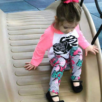 Valentines Day Comic Style Baby Leggings
