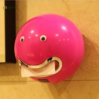 1PC Creative Facial Expression Tissue Boxes Bathroom Toilet Waterproof Toilet Paper Holder OK 0183