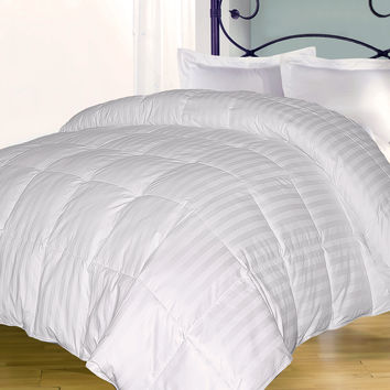 350 TC Cotton Damask Stripe (2cm) DA Comforter: Twin