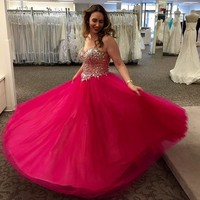 Crystal Embellished Sweetheart Bodice Ball Gown - Davids Bridal