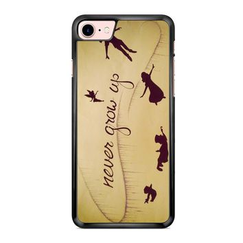 Peter Pan Never Grow Up iPhone 7 Case