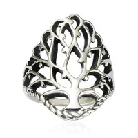 925 Sterling Silver 26 mm Detailed Large Celtic Tree of Life Band Ring - Nickel Free