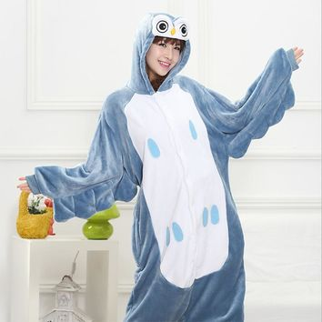 20 Styles All In One Flannel Anime Pajama Cartoon Cosplay Warm Hood Oneness Sleepwear Adult Unisex  Home wear Cute Animal Pajamas
