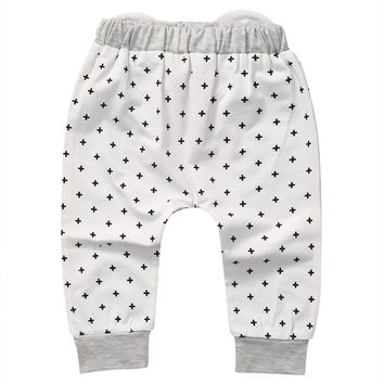 Toddler Baby Harem Pants Boys Girls Cartoon Bottoms Pants Leggings Trousers 0-2T lovely Baby Long Cute Pants
