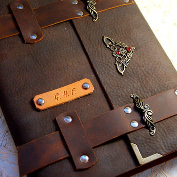 Gift Leather Journal, Personalized Journal, Medieval Journal, Diary, Notebook, Brown leather Journal, Personalized Gift