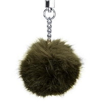Medium Bag Pom Charm - Khaki