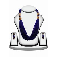 Blue Bridal Jewellery Set with Earrings for Women from India