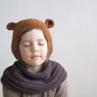 Crochet Bear Hat With Ears
