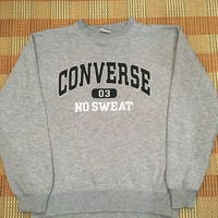 Vintage 90s Converse All Star Sweatshirt Grey Sweater Size M #M315