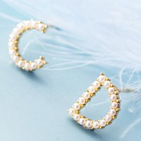 DIOR CD New fashion letter pearl earring women accessories
