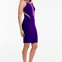 Beaded Illusion Jersey Dress