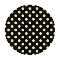 1 Dot Pattern Black - Round Cutting Board