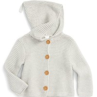 Stem Baby Organic Cotton Hooded Cardigan (Baby) | Nordstrom