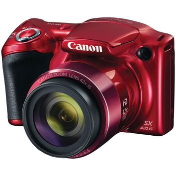 Canon 20.0-megapixel Powershot Sx420 Is Digital Camera (red)