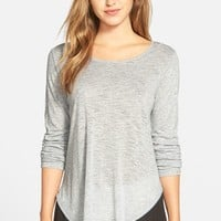 Women's Two by Vince Camuto Slub Top with Zip Back Inset,