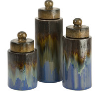 Frazier Ceramic Canisters - Set of 3