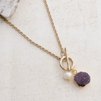 Healing Crystals Gold Necklace