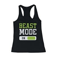 Beast Mode Women's Workout Tanktop Work Out Tank Top Fitness Gym Clothing