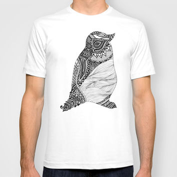 Tribal Penguin T-shirt by Pom Graphic Design