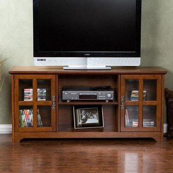 Mission Oak TV Stand - Fits up to 50-inch Flat Screen TV