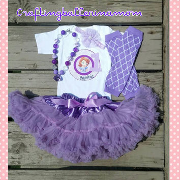 Sofia the First Birthday Personalized Girl Shirt Onesuit - Sophia the First - First Birthday - Second Birthday - Princess Headband - Tutu