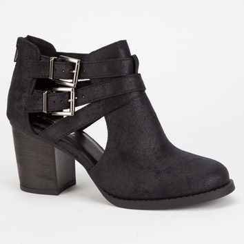 Soda Scribe Womens Booties Black  In Sizes