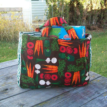 Vegetables Tote Bag Reusable Grocery Bag Ready to Ship Shopping Bag Farmers Market