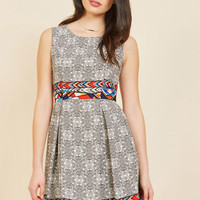 I Rest My Grace A-Line Dress in Modern Art | Mod Retro Vintage Dresses | ModCloth.com