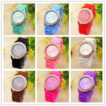 Silicone Watches Men & Women Casual Watches Fashion Quartz Unisex Jelly Watch = 1956709572