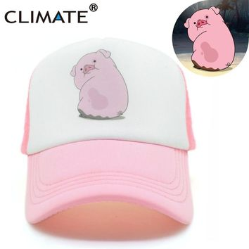 Trendy Winter Jacket CLIMATE 2017 Cute Gravity Falls Mabel Dipper Pink Pig Waddles Mesh Summer Trucker Caps Youth Pink Girls Cool Net Mesh Hat Cap AT_92_12
