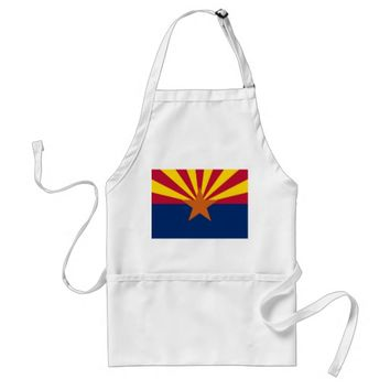 Apron with Flag of Arizona State, U.S.A.
