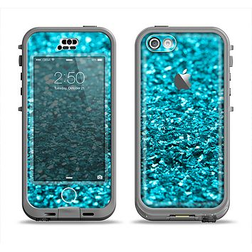 The Turquoise Glimmer Apple iPhone 5c LifeProof Nuud Case Skin Set