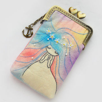 iPhone Case - Mermaid Vintage Embroidery (iPhone 5, Samsung Galaxy s3 Size available)