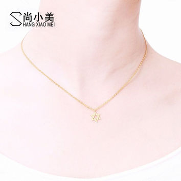 High Quality Jewish Israel Star of David Pendant Necklace