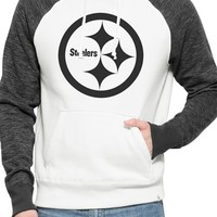 Men's 47 Brand 'Pittsburgh Steelers - Hashmark' Graphic Fleece Hoodie,