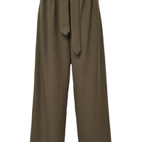Rosie Assoulin Lindberg Belted Wool-Twill Pants Fatigue