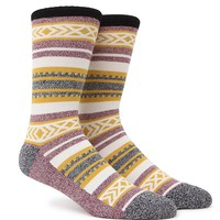 On The Byas Stripes And Textures Crew Socks - Mens Socks - Natural - One