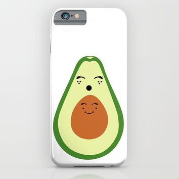 AVOCADO MOMMY AND AVOCADO BABY iPhone & iPod Case by deificus Art