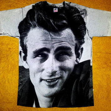 80's JAMES DEAN Rebel Without A Cause Punk Artist Hollywood Marilyn Monroe tee t shirt Size L