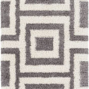Winfield Shag Area Rug Gray, Neutral