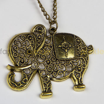 ANL0212 - Elephant long necklace